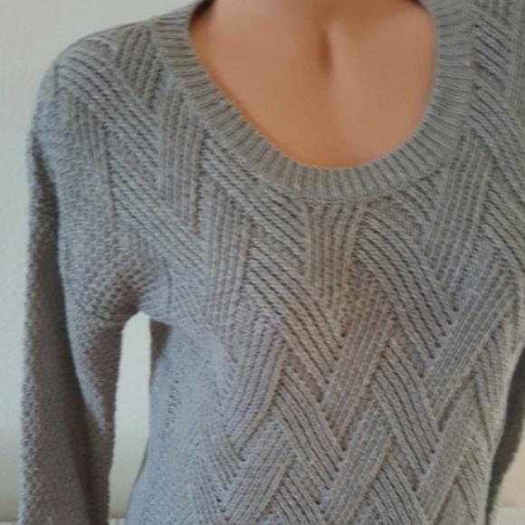 Hippie Rose Sweaters Heather Gray Diagonal Pattern Sweater Poshmark